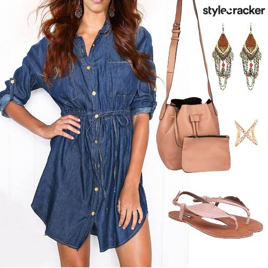 CasualDenimDress BucketBag - StyleCracker
