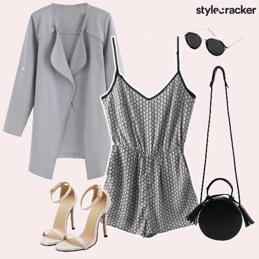 Romper Jacket Slingbag Tassled Brunch - StyleCracker