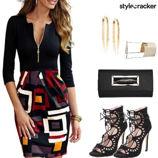 PartyWear ContratBottom BodyconDress  - StyleCracker