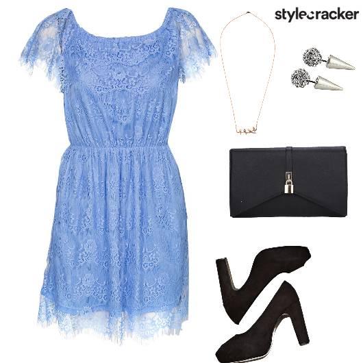 Lace Dress Peeptoes Clutch Brunch - StyleCracker