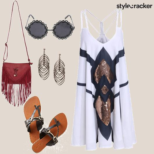 Casual Sequinned SlipDress  - StyleCracker