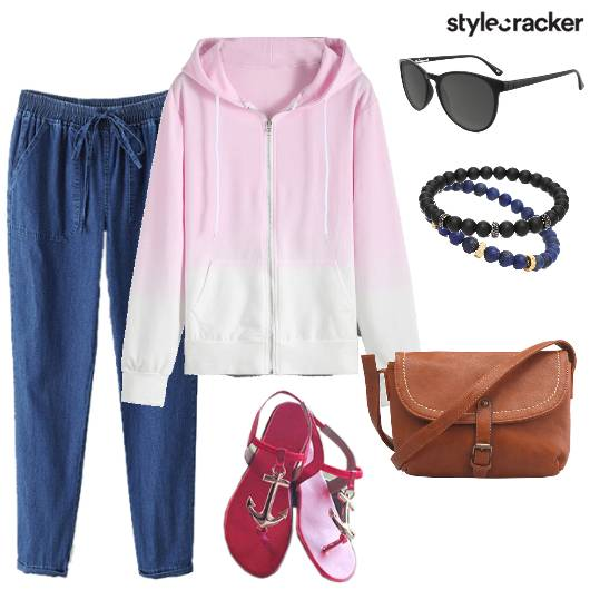 Zipper JoggerPants Casual College MorningWear - StyleCracker