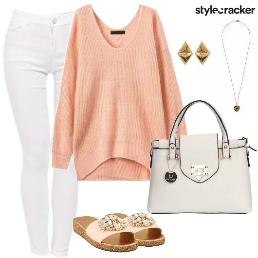 KnitTop WhitePants WinterMorning DayWear - StyleCracker