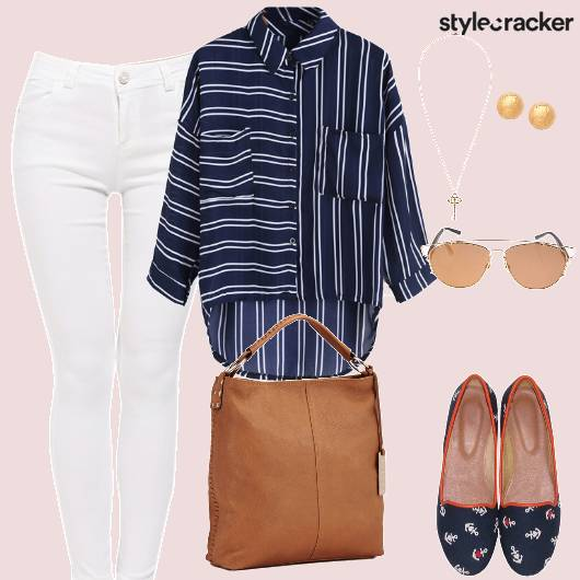 MixedStripes CollarShirt WorkWear - StyleCracker