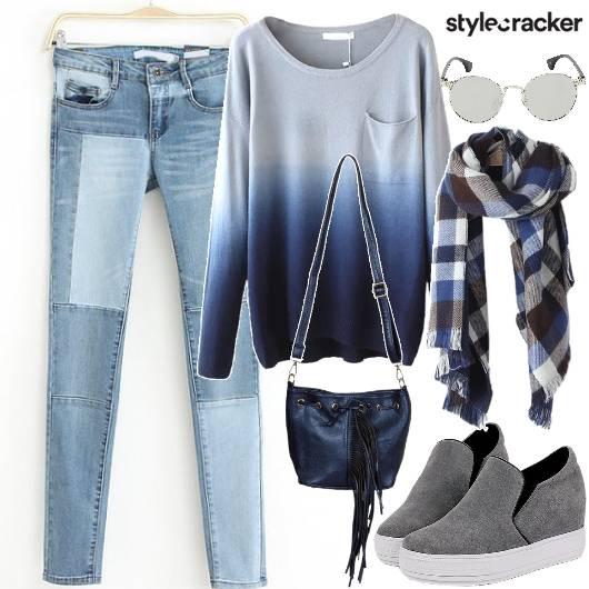 ShadesOfBlue Casual CollegeWear - StyleCracker