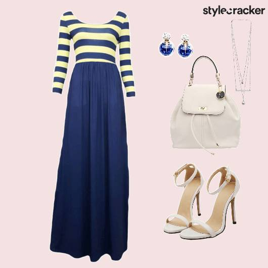 Dress Maxi Stripes Shoes Bag Accessories - StyleCracker