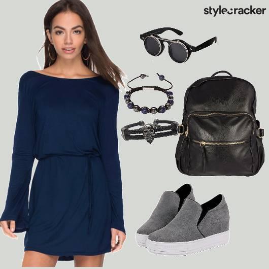 Comfy Dress Casual College Wear - StyleCracker
