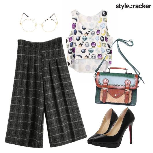 Prints Culottes Graphic CropTop  - StyleCracker