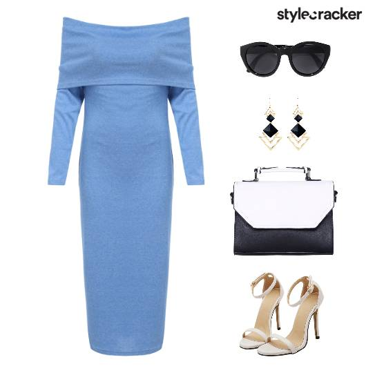 WorkWear Meeting OffShoulderDress - StyleCracker