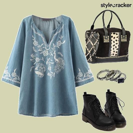 Embroidered Dress Daywear  - StyleCracker