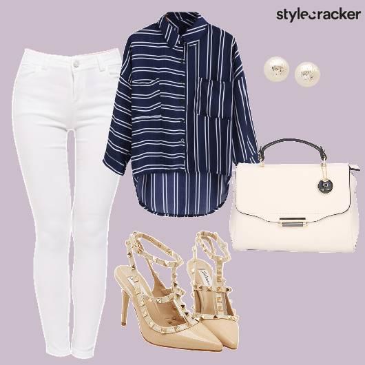 Stripes Work In Whites  - StyleCracker