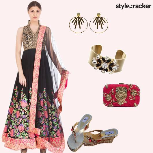 Suit Anarkali Clutch Ethnic - StyleCracker