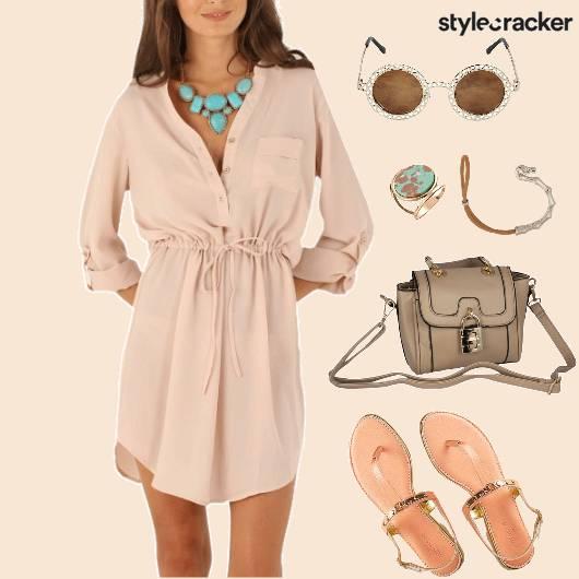 CasualDayWear ShirtDress RoundFrame Sunglasses - StyleCracker
