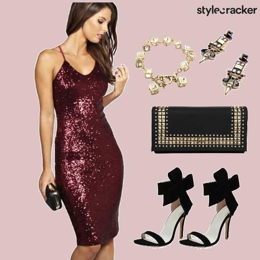 Dress Glam Party Shimmer Dinner - StyleCracker