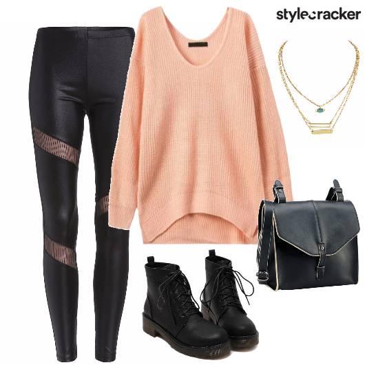 OverSizedSweater Leggings AnkleBoots - StyleCracker