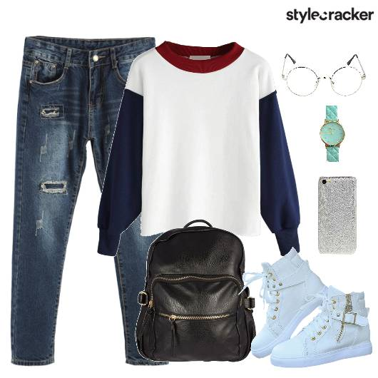 Sweater Backpack Shoes Denims Ripped - StyleCracker