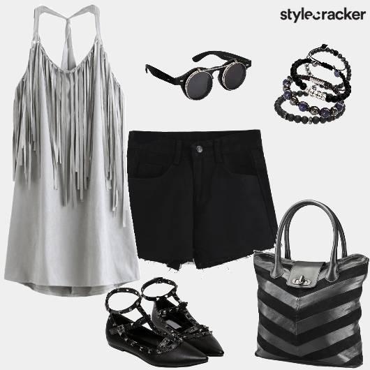 TasselCamiTop Shorts CasualCollegeWear - StyleCracker