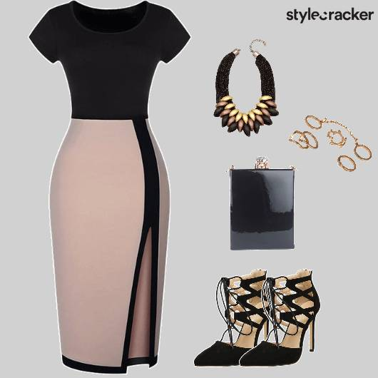 CocktailParty ColourBlock BodyconDress  - StyleCracker