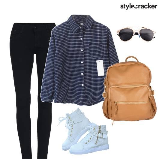 Shirt Denims Sneakers - StyleCracker