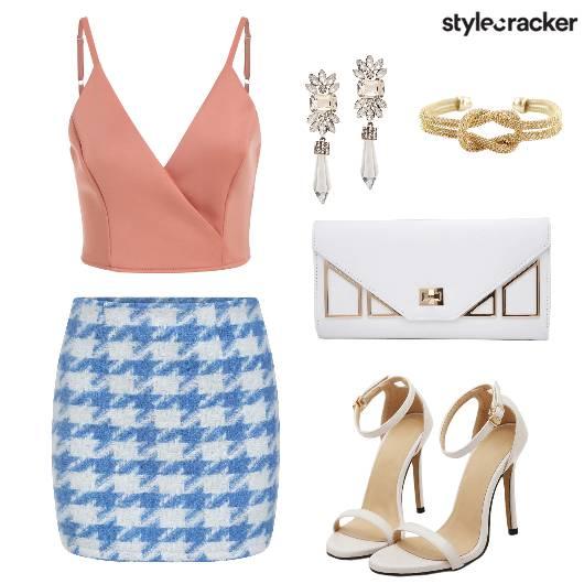 Houndstooth Skirt Brunch  - StyleCracker