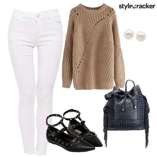White Winter Work Wear  - StyleCracker