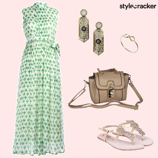 Prints MaxiDress Lunch  - StyleCracker
