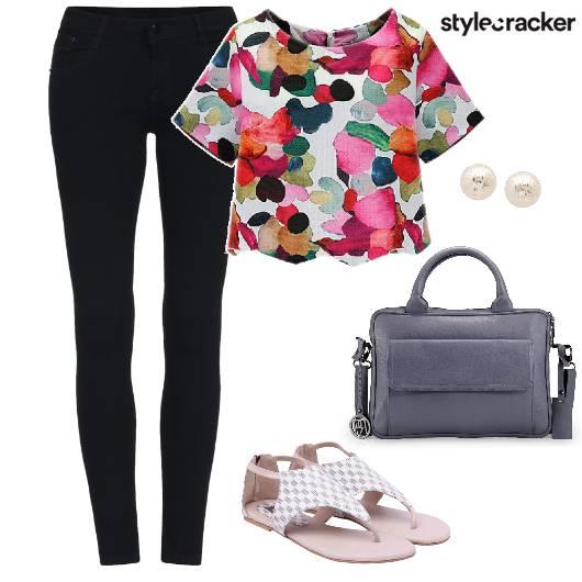 Casual Shopping Flats StructuredBag  - StyleCracker