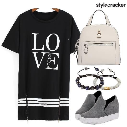 Black Dress Sneakers Backpack  - StyleCracker