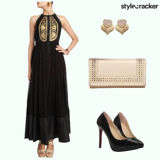 Indian Clutch Anarkali Studs - StyleCracker