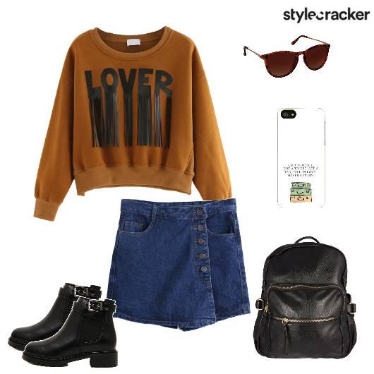 Sweater Skort Denim Backpack Boots Backtoschool - StyleCracker