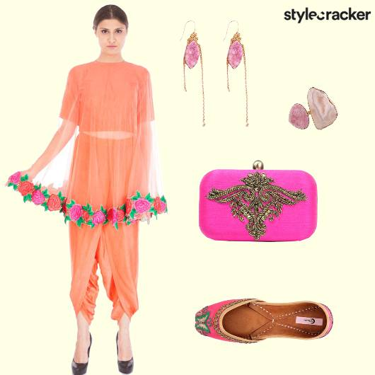 Cape Dhoti Croptop Ring - StyleCracker