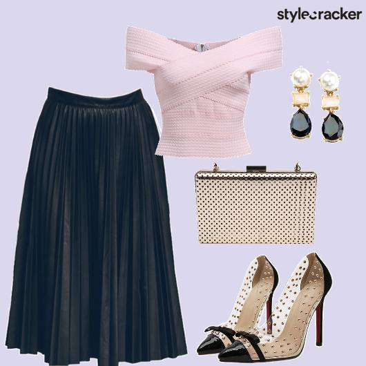 Pastel Pleats Bow Pumps Party  - StyleCracker