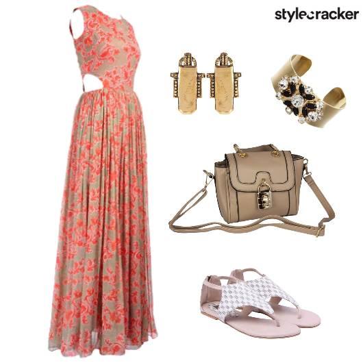 Dress Floral Cuff Day Lunch  - StyleCracker