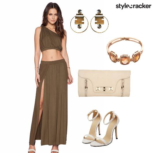 Croptop Skirt Heels Party - StyleCracker