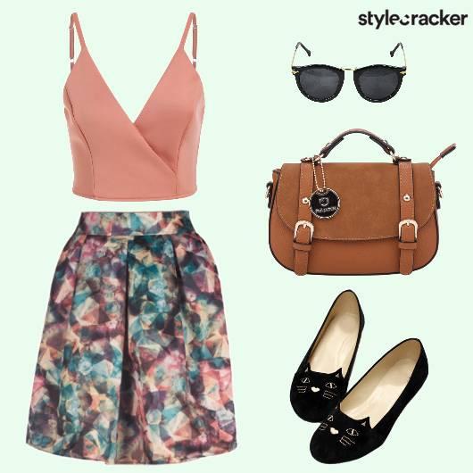 Prints Skirt Slingbag Ballerinas Sunglasses - StyleCracker