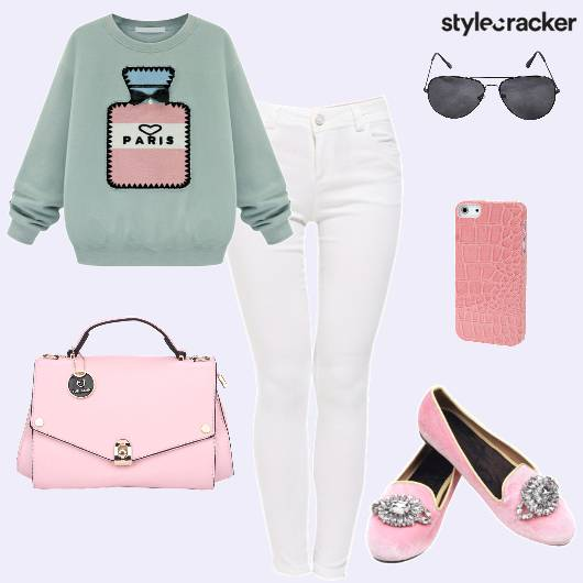 Sweater Jeans Ballerinas Mobilecover - StyleCracker