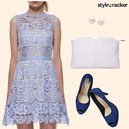 Lace Dress Heels Clutch - StyleCracker