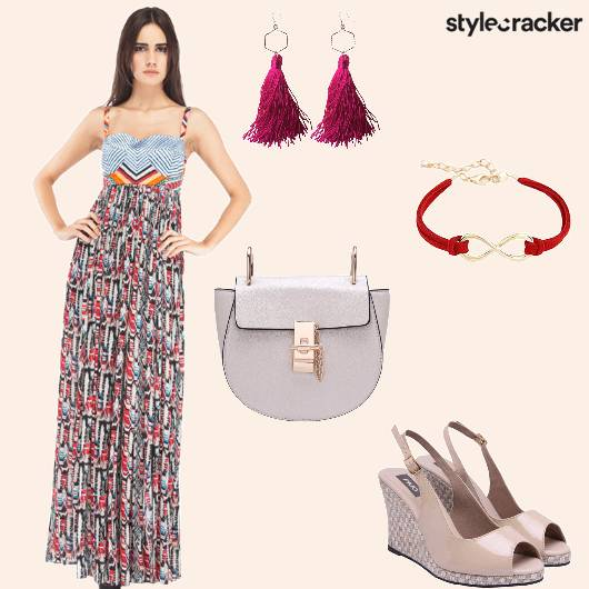 Maxidress Slingbag Wedges Bracelet  - StyleCracker
