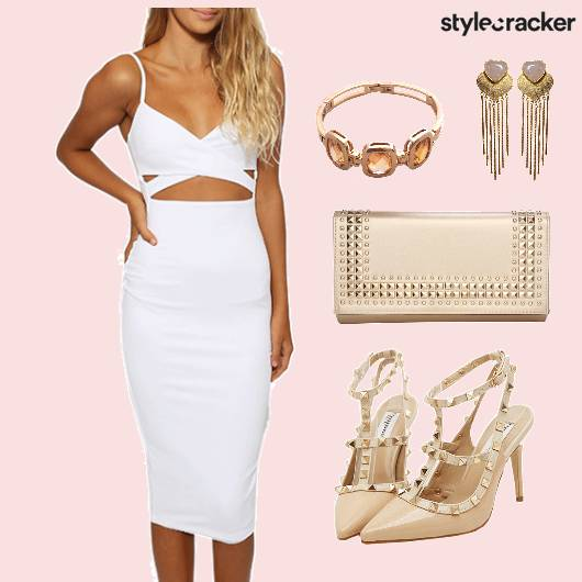 Dress CutOut Clutch Shoes Dinner - StyleCracker