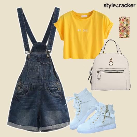 Top Denim Overall Shoes Bag Phonecover - StyleCracker