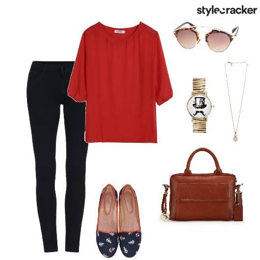 Pants Top Satchel Casual - StyleCracker