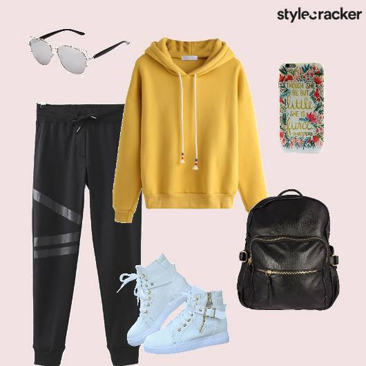 Joggers Hoodie Backpack Workout  - StyleCracker