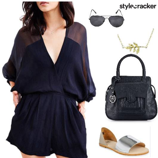 Romper Flats Handbag Casual - StyleCracker
