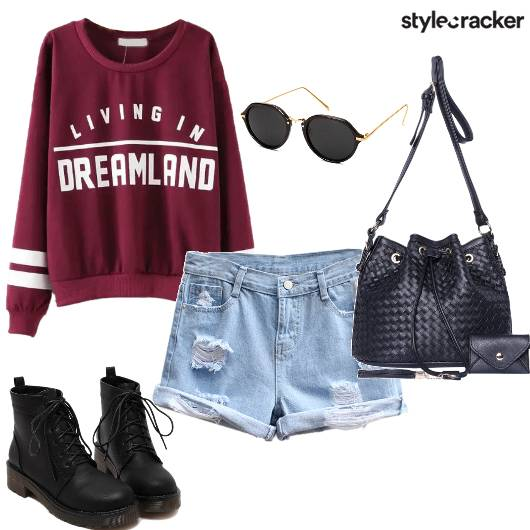 SweatShirt Shorts College Winter Day - StyleCracker