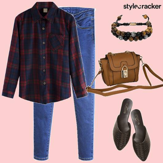 Shirt Jeans Mules SlingBag  - StyleCracker