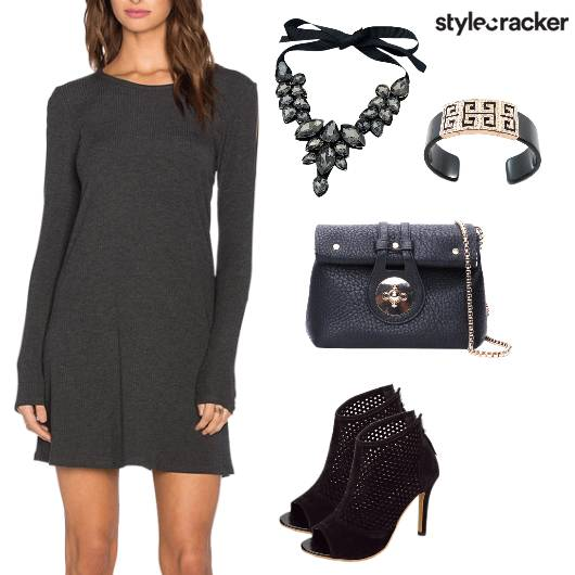 Dress Evening Statement Necklace WinterFashion - StyleCracker