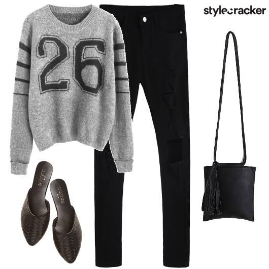 Sweatshirt Casual Denim  - StyleCracker
