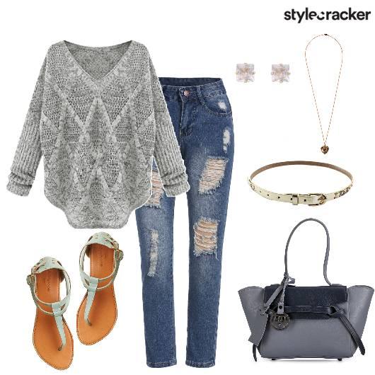 KnitSweater RippedJeans WorkCasual DayWear WinterMorning - StyleCracker