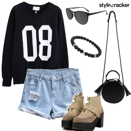 SweatShirt Shorts Casual DayWear WinterFashion College - StyleCracker