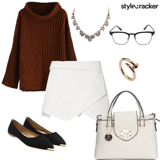 Sweater Skort WinterFashion DayWear Work AfterWork - StyleCracker